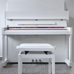pianino petrof bílé